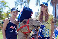 Australia Day Girls Camel Small